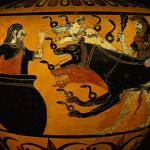 Hercule devant dompter et ramener le chien Cerbère