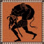 Hercule capturant le taureau du roi de Crête