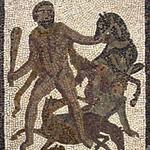 Mosaïque d'Hercule capturant la jument de Diomède