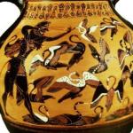 Vase représentant Hercule faisant fuire les oiseaux du lac de Stymphale