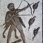 Mosaïque d'Hercule chassant les oiseaux du lac de Stymphale