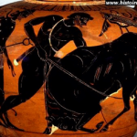 Vase représentant Hercule capturant le taureau du roi de Crête