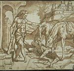 Hercule devant les juments de Diomède